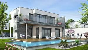 maison toit plat azur plan maison contemporaine With dessin de maison en 3d 4 croquis de jardin en ligne pour petit jardin terrasse