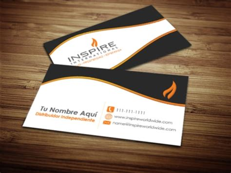 Inspire International Business Card Design 3 Business Plan Usaha Cards Vistaprint Proposal 90 X 55mm How To For Coffee Shop Component Plans Etisalat