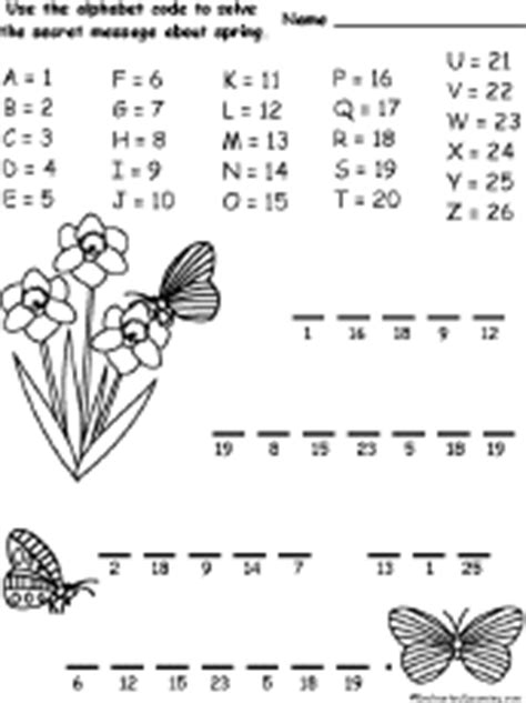 spring alphabet code enchantedlearningcom