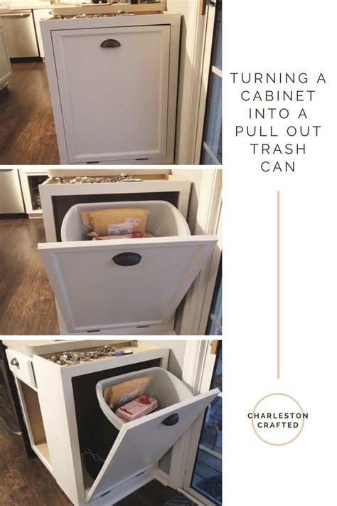 convert kitchen cabinet to pull out turning a cabinet into a pull out trash can