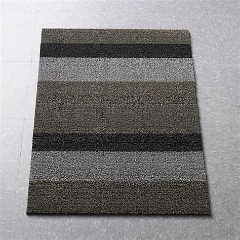 Crate And Barrel Doormat by Chilewich 174 Silver Black 36 Quot X20 Quot Doormat Crate And Barrel