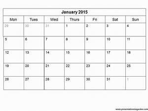 Free 2015 monthly calendar template for 2015 calendar by month template