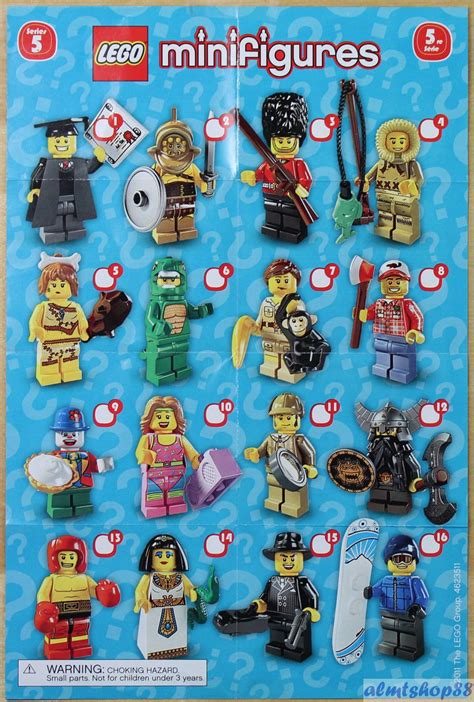 lego mini poster leaflet minifigures series 1 2 3 4 5 6 7 8 9 10 11 12 13 14 15 toys and such