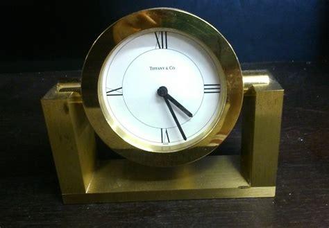 tiffany  brass desk clock clock tco