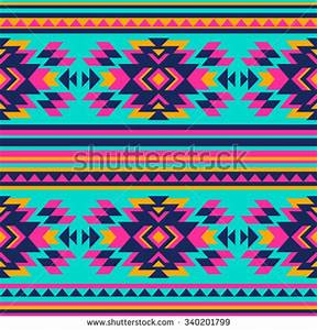 Neon Color Tribal Navajo Seamless Pattern Stock Vector