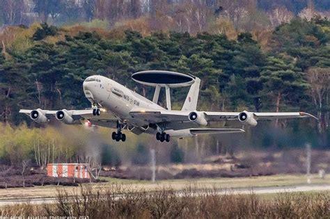 """NATO E3A """"AWACS"""" departing Geilenkirchen. #spotting # ..."""