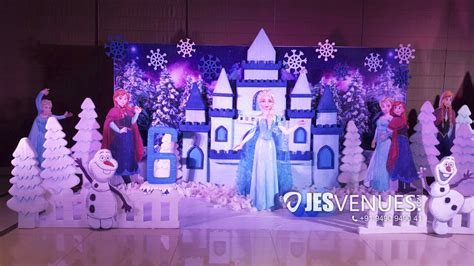 frozen theme decoration  birthday party hyderabad