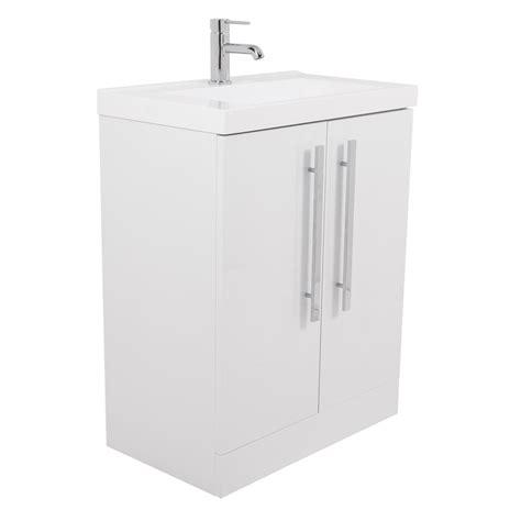 vitalise white mm vanity unit basin   mirror
