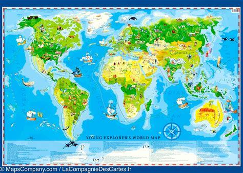 carte murale du monde g 233 ographique pour enfants en anglais artglob la compagnie des cartes
