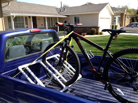 Bed Bike Rack by Truckbed Pvc Bike Rack 9 Steps With Pictures