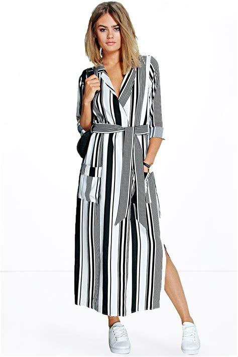 Becky Striped Maxi Shirt Dress At