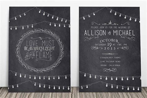 Chalkboard Invitation Template 43+ FreePSD