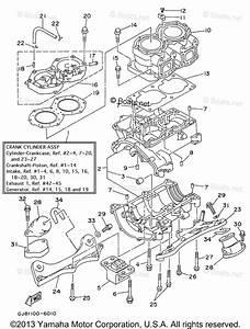 Yamaha Waverunner Parts 1996 Oem Parts Diagram For Cylinder Crankcase
