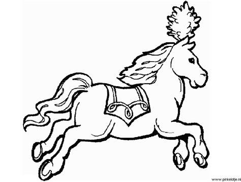 Kleurplaat Circuspaard paarden en veulens plaatjes knutsels kleurplaten