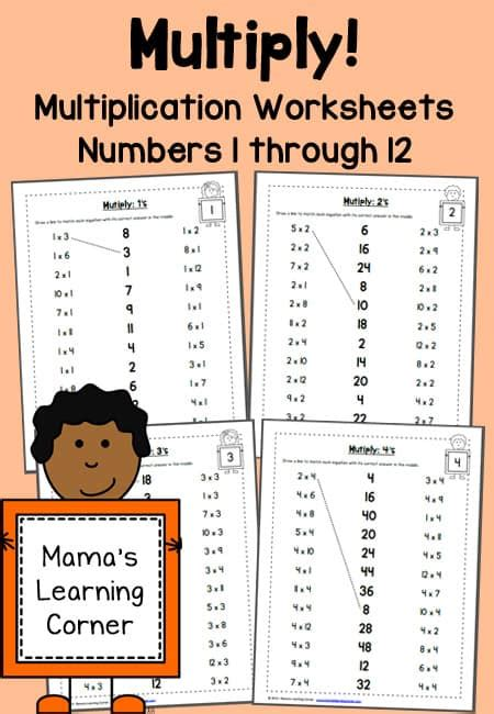 free multiplication worksheets 1 12 life of a homeschool mom