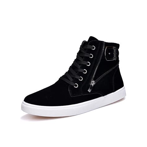 Men Flock Leather Casual Shoes