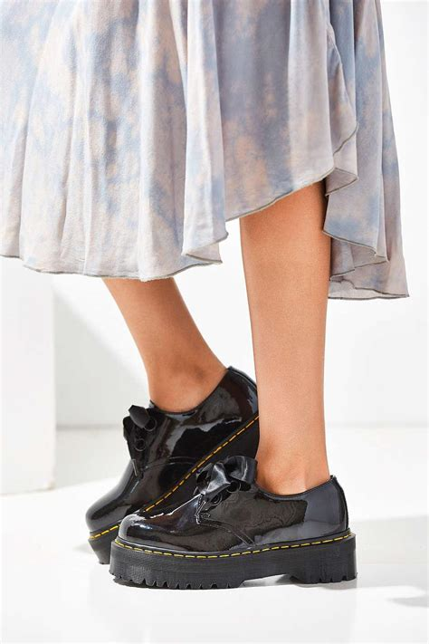 lyst dr martens holly patent leather platform oxford