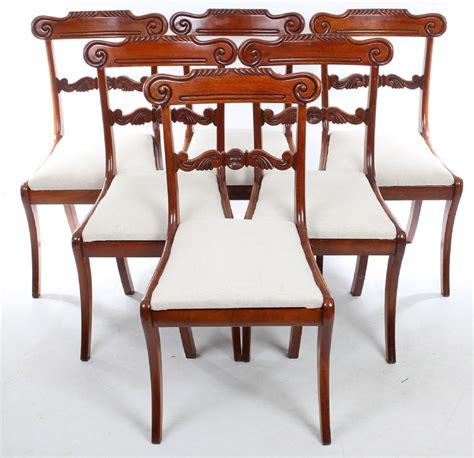 set of 6 mahogany dining chairs loveantiques