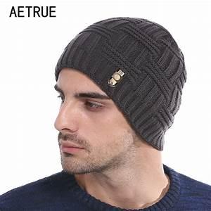 AETRUE Winter Beanies Bonnet Knit Hat Men Winter Hats For ...