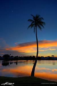 Palm Beach Gardens Sunset by the Lake