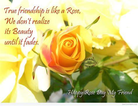 happy rose day true friendship    rose