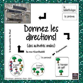 french giving directions vocabulary  oral activity
