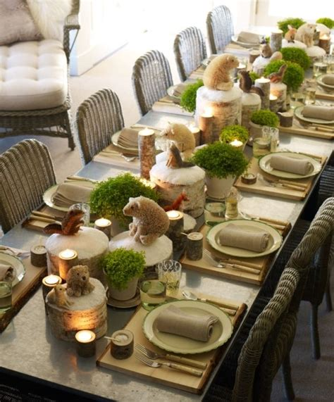 Autumn Baby Shower Table Settings  How Cute Is This