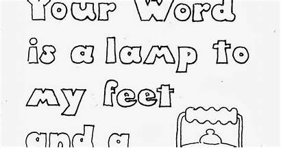 Lamp Word Feet Coloring Pages Kid