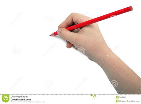 l 39 enfant dessine le de crayon de image stock