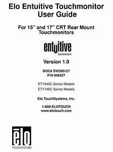 Elo Touchsystems Entuitive Et1545c Series User Manual Pdf