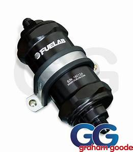 Fuelab In-line Fuel Filter With Integrated Check Valve Black