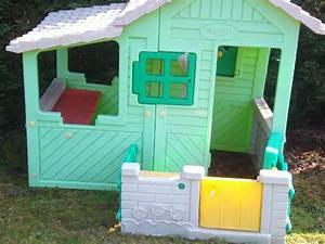 Cabane Enfant Plastique : photo cabane pour enfant tres bonne etat de couleur vert ~ Preciouscoupons.com Idées de Décoration