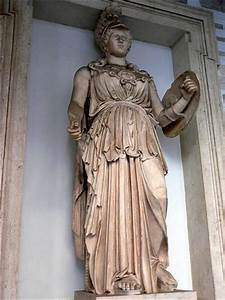 Statue of the Roman goddess Minerva | Photographed at the ...