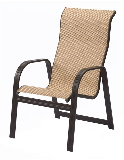 Patio Chairs by Cabo Sling High Back Aluminum Dining Arm Chair Et T