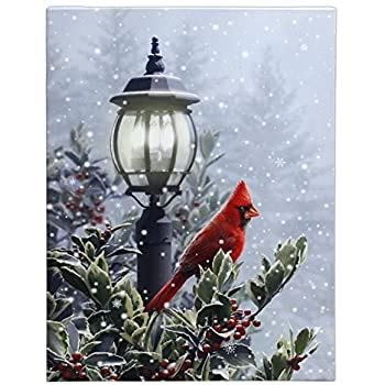 "Amazon.com: RAZ Imports 24"" x 18"" Light-Up Snow & Lamp"