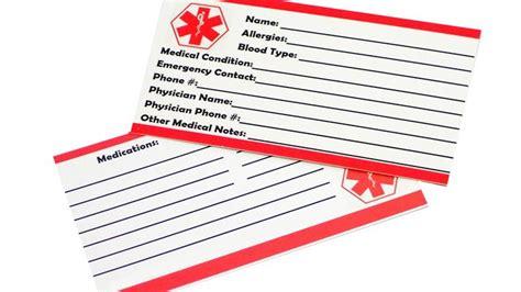 printable medical id wallet cards top ten reviews