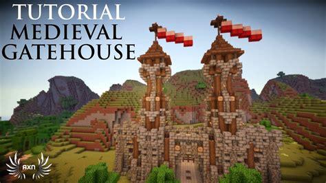 minecraft tutorials medieval gatehouse youtube