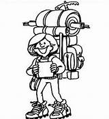 Hiking Clipart Hiker Hikers Camping Children Icons Tags Backpacking Clipartmag Did Know sketch template