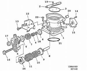 inlet and exhaust system throttle housing 4 cylinder 4 With saab throttle position sensor 1993 900