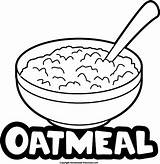 Oatmeal Oat Clipart Meal Coloring Template Porridge Oats Preschool Sketch Homemade Did Know sketch template