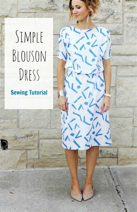 how to sew a simple blouson dress tutorial one momma woolwork kleid n 228 hen n 228 hen