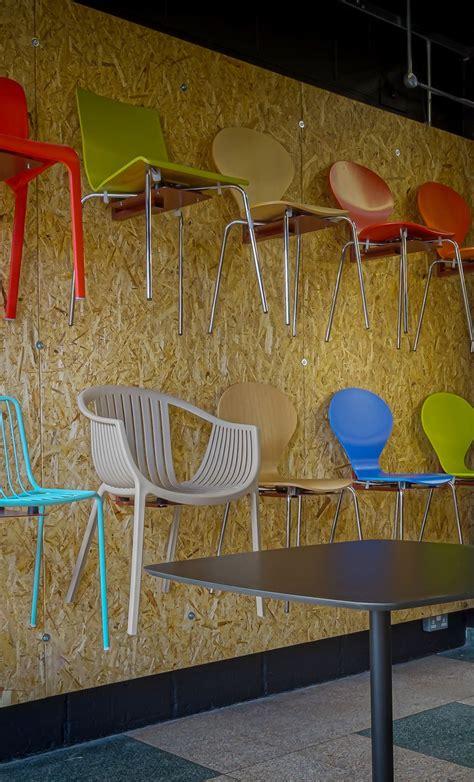 cafe chair wall    spaceist showroom peerless