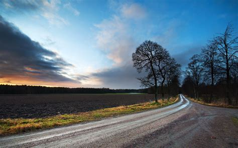 hd landscapes nature fields roads high quality wallpaper