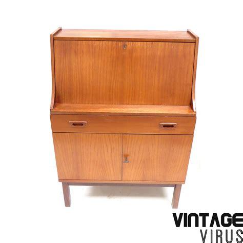 bureau secretaire antique vintage secretaire bureau met klep lade en 2 deurtjes