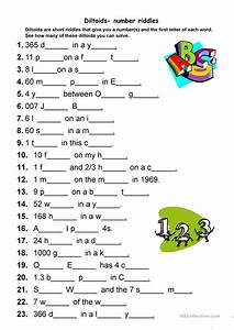 diltoids number letter puzzles worksheet free esl With number and letter puzzles