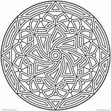 Coloring Pages Circle 3d Printable Ages sketch template