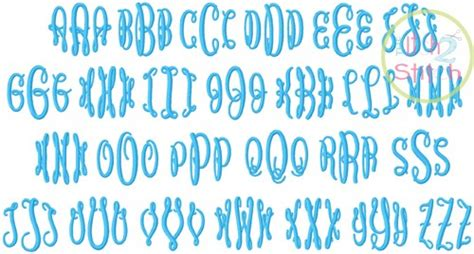 fancy oval circle embroidery font