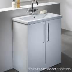 envy designer freestanding 700mm white bathroom vanity unit