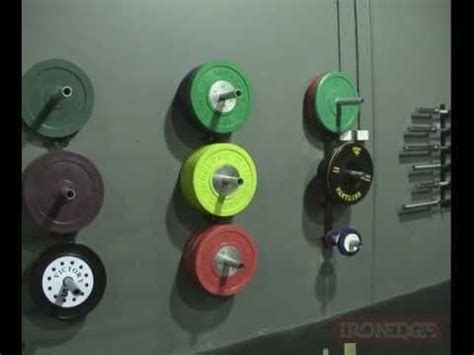 wall mounted bumper plate storage weight plate holder