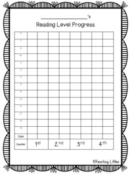 student reading level graph freebie  katie groves tpt